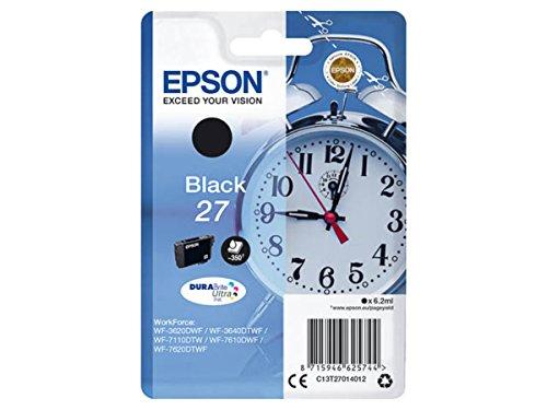 Epson original - Epson Workforce WF-3620 DWF (27 / C13T27014012) - Tintenpatrone schwarz - 350 Seiten - 6,2ml