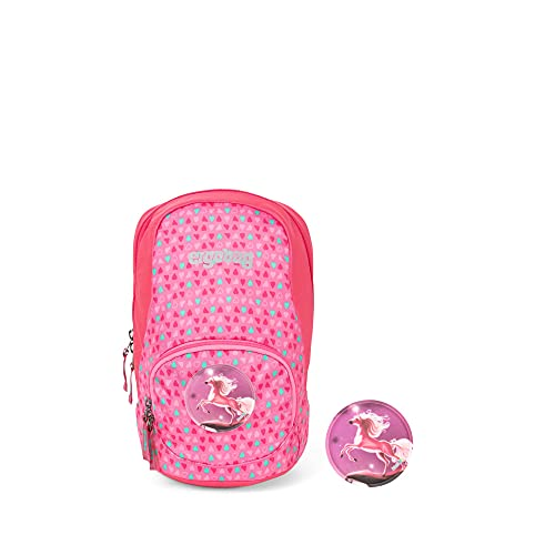 ergobag Ease Small Kids Backpack Rucksack Unisex Kinder, Unisex Kinder, Tagesrucksack, ERG-MIS-001-9Y9, Pinke Herzen, L