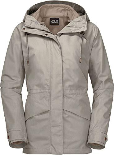 Jack Wolfskin Damen Jacke Rochelle 3In1 Jacket W, dusty grey, L, 1111791-6260004
