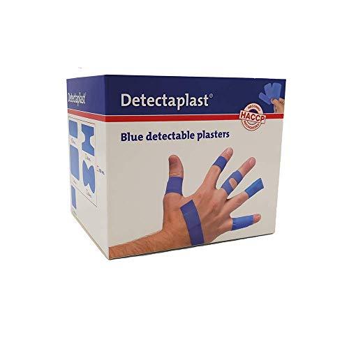 Detectaplast Pflaster wasserfest Elastic, blaue Wundpflaster für den Lebensmittelbereich, detektierbare Pflaster für Erste Hilfe Sets, 19 x 72, 25 x 72, Fingerkuppe und Gelenk, 100 Stück
