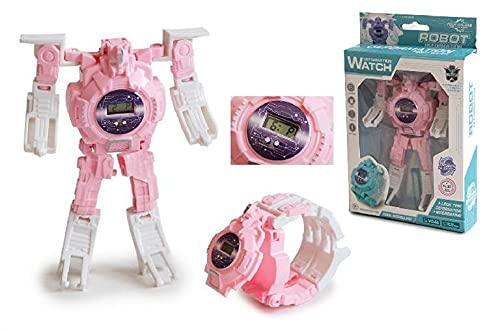TOINSA- Robot+Reloj Deformation Compañeros de Juego robóticos/interactivos, Multicolor (39-6181)