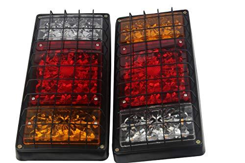Hehemm Lot de 2 feux de freinage arrière LED 12 V 24 V étanche universel pour plaque d'immatriculation 40 LED