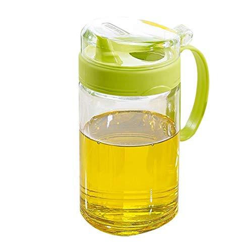 ZXC Home Botella de Aceite a Prueba de Fugas de Aceite de Soja Pot Pot Vinagre Botella Salsa con Tapa a Prueba de Polvo de Aceite Sanitaria de Botella 550 ml de Aceite de Cocina Inicio