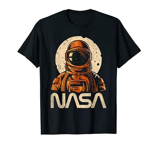 Astronaut NASA Spaceman Regalo Vintage Retro Espacio Exterior Hombres Camiseta