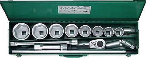Steckschlüsselsatz 60/8/6/882, 1 Zoll, SW 46-80mm, Zähne 36 6/12-Kant, 14Tlg