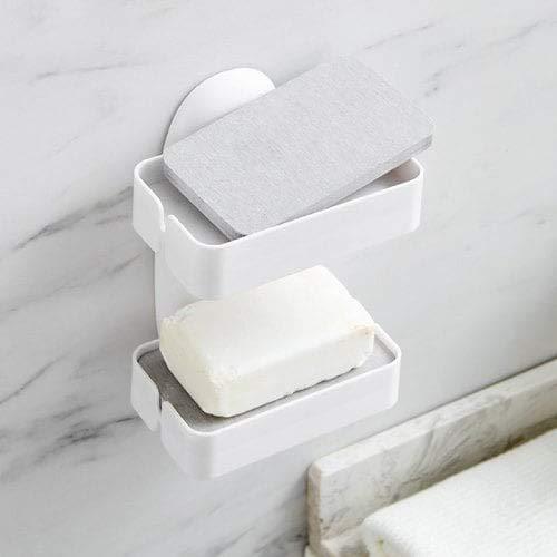 WZhen Boîte À Savon Suspendue De Simple Couche De Mur Imperméable À l'eau - Blanc