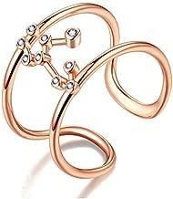 VIKI LYNN 925 Sterling Silver Zodiac Constellation Ring