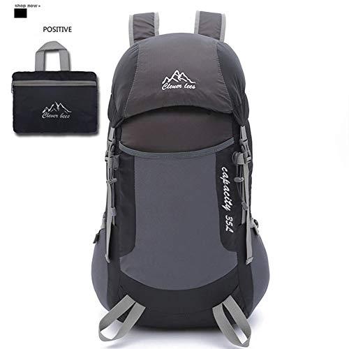 Backpack Sac à Dos de randonnée 40L, Sac à Dos de Voyage léger pour Le Trekking, matériau imperméable, pour Le Cyclisme/Escalade/Sports/Camping en Plein air,Black