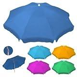 Sombrilla de playa resistente con brazo inclinable de TNT - Se incluye perchero para la...