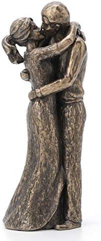 JFSM INC Soulmates Lovers Kissing True Love Sculpture Perfect Wedding Anniversary Present product image