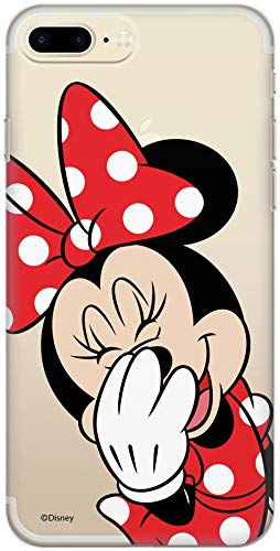 Carcasa Original de Disney Mickey y Minnie TPU para iPhone 7 Plus, iPhone 8 Plus, Funda de Silicona líquida, Flexible y Delgada, Protectora para Pantalla, a Prueba de Golpes y antiarañazos