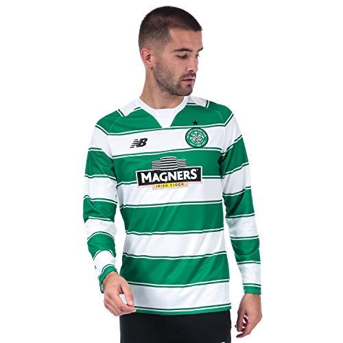New Balance - Camiseta para hombre, diseño del Celtic Fc Home L/S, color verde y blanco,...