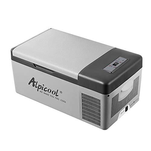 KKmoon 15L Nevera Portatil DC12 / 24V AC220V Refrigerador de Coche Congelador Compresor de Nevera Automático Control de Temperatura/Voltaje Ajustable de 3 Niveles/Digital para Camping Coche Hogar