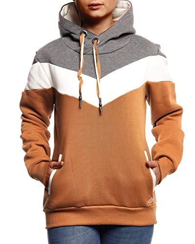 Leif Nelson dames pullover hoodie pullover met capuchon voor vrouwen bovenstuk lange mouwen sweatshirt lange mouwen slim fit LN5928