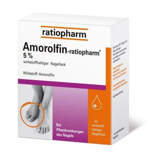 Amorolfin Ratiopharm 5% Wirkstoffhaltig.Nagellack 5ml