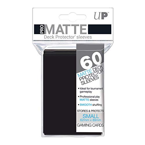 Ultra Pro Deck Protector Card Sleeves Mini Pro- Nero (Matte Black) (pacchetto da 60)
