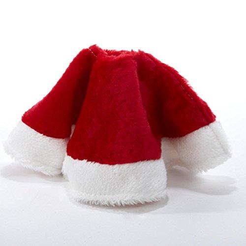 Kurt Adler 15' Red and White Plush Mini Christmas Tree Skirt