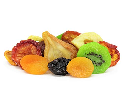 Dried Mixed Fruit with Prunes by It's Delish, 1 lb (16 oz) Bag | Snack Mix of Prunes, Apricots, Plums, Apple Rings, Nectarines, Peaches, Pears, Kiwi Slices