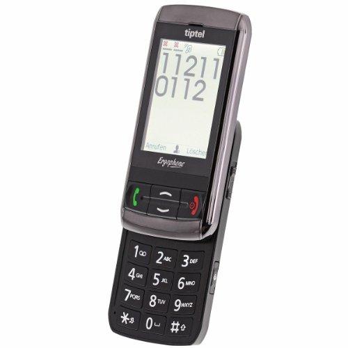Tiptel Ergophone 6060 Slider-Großtastenhandy (Dual-SIM, Touchscreen-Bildschirm, 320 x 240 Pixel, 1,3 Megapixel Kamera, USB)