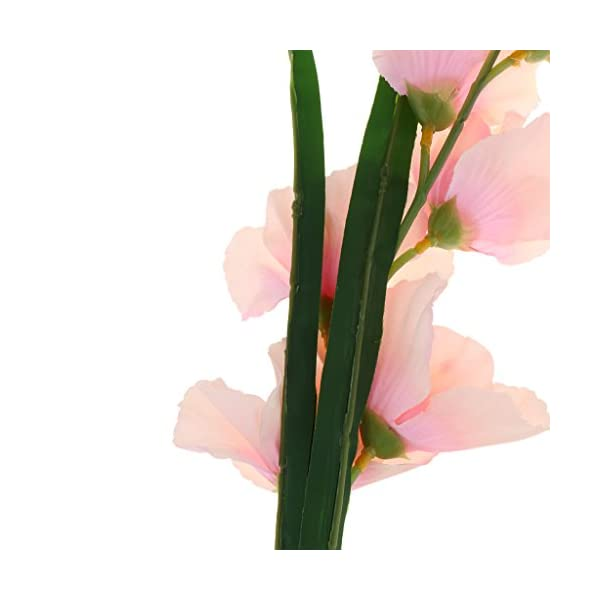 HomeDecTime 4X Simulación Artificial Gladiolo Flor Tallo Boda Decoración para El Hogar