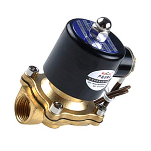 Bonarty Válvula Solenoide Eléctrica de Latón AC220V para Combustibles de Aceite de...