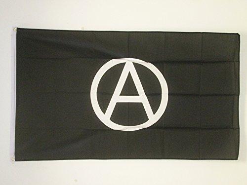AZ FLAG Bandera ANARQUÍA 150x90cm - Bandera ANARQUISTA 90 x 150 cm