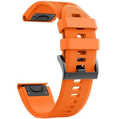 Tyogeephy Compatible con Fenix 5X Bandas de Reloj 26mm Silicio Correa de Reloj para Fenix 5X/Fenix 5X Plus/Fenix 6X/Fenix 6X Pro/Fenix 3/Fenix 3 HR/Descent MK1/D2 Delta PX/D2 Charlie