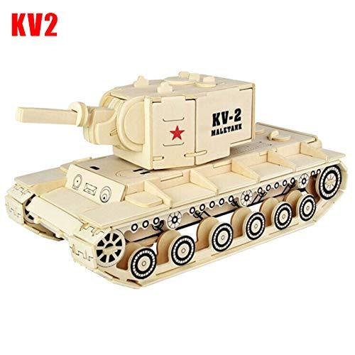 jtxqy Tank Toy,Simulation Tank Woodcraft Construction Kit 3D Wooden Model Puzzle for Kids Adult(Quantity of parts:146pcs)
