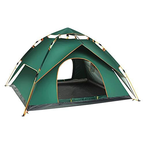Zelten Family Camp Zelt Freien Geeignet for 3-4 Personen-Zelt Große wasserdichte Zelte UV Family Camping Zelte mit Beutel Leicht Camping (Color : Green, Size : One Size)