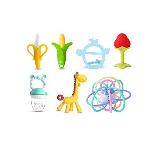 Best Prices! Baby Fawn Teething Stick Hand Grab Ball Teether Toys, Food Grade Silicone Anti Bite Han...