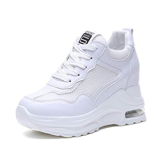 Zomer Dames Wedge Sneakers Mesh Casual Platform Trainers Ademend Hoogte Toenemend 9 Cm Hakken Sport Running Wandelschoenen