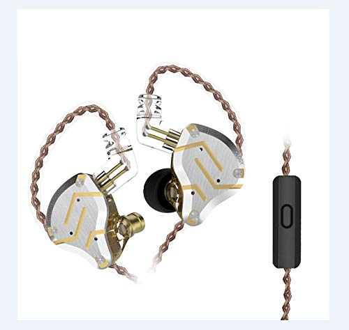 KZ ZS10 Pro 4BA + 1DD - Auriculares in-ear (Hi-Fi, bajos claros, cancelación de ruido, con cable extraíble)