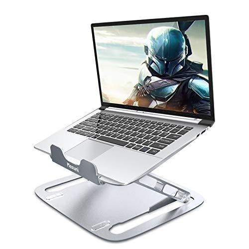 Maxuni Support Ordinateur Portable Réglable, Support PC Portable Ventilé en Aluminium,Laptop Stand Ergonomique pour MacBook Air Pro,iPad, Pouce PC, Notebook (10-17 Pouce)