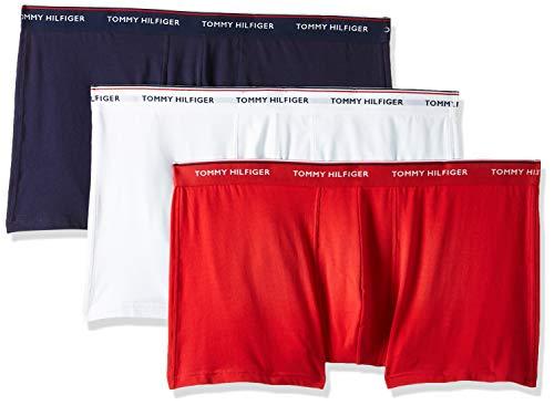 Tommy Hilfiger Herren 3p Trunk Sport Shorts, Weiß (White/Tango Red/Peacoat 611), L / 52 (3er Pack)