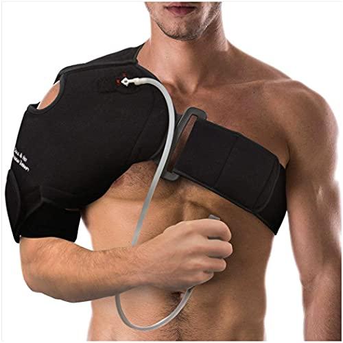 NatraCure Hot or Cold and Compression Shoulder Support 6032 - (Left or Right Shoulder Ice Pack...