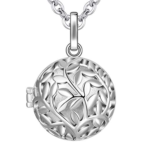 EUDORA Harmony Ball Tree of Life Necklace with Music Chime Wishing Ball Pregnancy Mexican Bola Pendant Necklacefor Women Ladies Jewellery Best Gift, 30'+45'