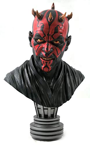 DIAMOND SELECT TOYS Star Wars: The Phantom Menace: Darth Maul Legends in 3-Dimensions 1:2 Scale Bust, Multicolor, 10 inches