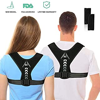 Posture Corrector for Men and Women,Updated Adjustable Upper Back Brace for Clavicle Support and Providing Pain Relief from Neck, Back and Shoulder(Universal)