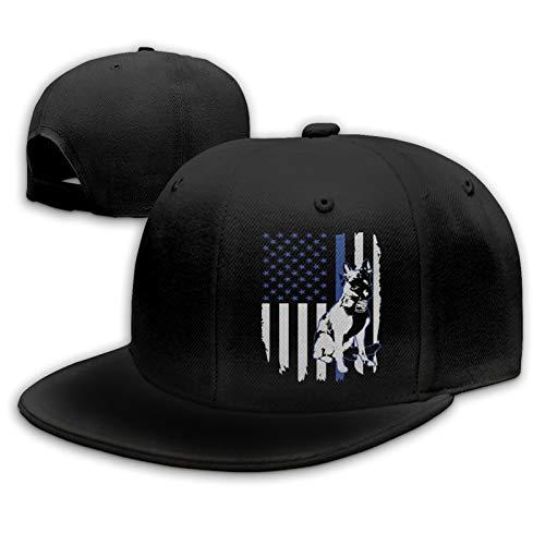 Fsocvr Baseball Cap K9 Police Officer Thin Blue Line USA Flag Washed Hat Adjustable Unisex Style Headwear for Men & Women