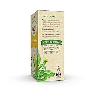 Alvita Organic Dandelion Root Herbal Tea - Made with Premium Quality Organic Dandelion Root Leaves, A Delicate Mint Flavor and Aroma, 72 Tea Bags (3 Pack)