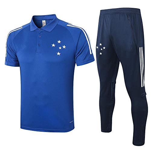 zhaojiexiaodian Heren Jersey Voetbal Trainingspak Korte mouw en Been Broek Voetbal Sportkleding