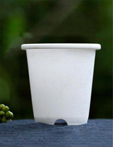 XYZ Creativo semplice plastica Vaso da fiori, piante grasse Vaso da fiori, fioriera, fioriera delicato durevole ( colore : Bianca , dimensioni : 7.5*7.5cm )