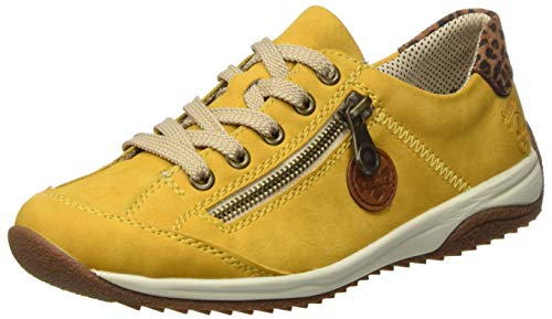 Rieker Damen L5224 Sneaker, Honig/Cayenne/Leo-nuss 68, 40 EU