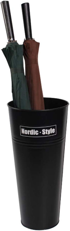 GSHWJS European Household Black Umbrella Stand Wrought Iron Creative Umbrella Stand Umbrella Stand Storage Bucket