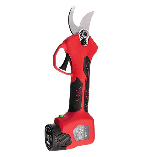 Best Price LKSDD Electric Pruning Shears,16.8V 500W Cordless Electric Rechargeable Lithium Pruning Shears Branch Cutter Electric Fruit Pruning Garden Tool,Red