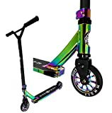 Bad Frog Stunt-Scooter Trick Tret Roller Rainbow Neochrome...