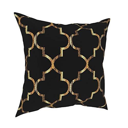 DearLord Fundas de cojín de doble cara, cuadradas, grandes, doradas, con cierre invisible, 45,7 x 45,7 cm