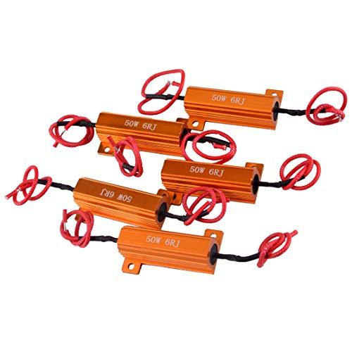 CITALL 5 set jeux d'ampoules LED 50W 6 ohms super clignotant résistance de résistance de charge clignotante signal de direction automatique