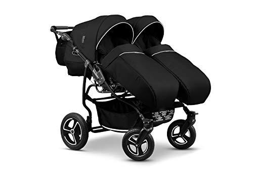 Mikado Twin Kinderwagen Geschwisterwagen Jahr für Jahr - Set 1Stück Babywanne 2Stück Buggy Color 01