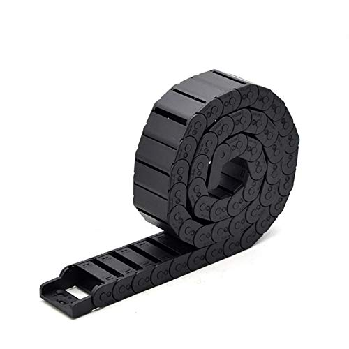 YOBAIH Cable Drag Chain Cable Chain Semi-Enclosed 15 * 20 30 40 50mm Wire Transmission Carrier Plastic Drag Towline For 3D Printer CNC Engraving Machine (Bending Radius : 38mm, Inner Size : 15x15mm)